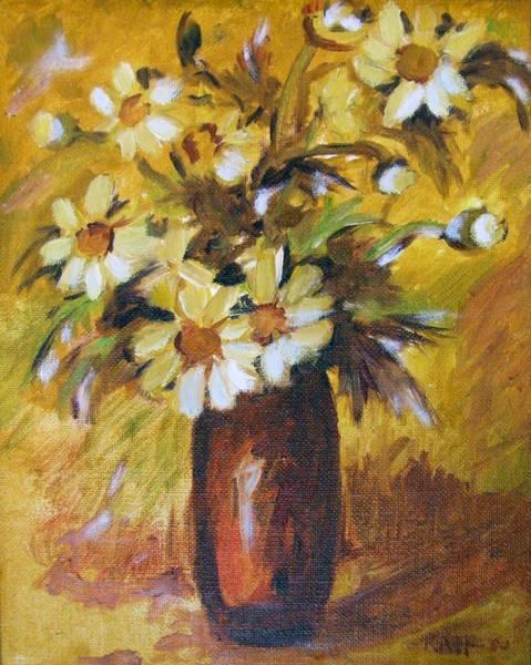 Bouquet Flowers Of Gold Art Print