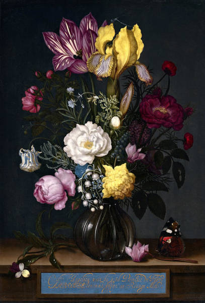 Flowers In A Vase Photograph - Bouquet Of Flowers In A Vase  1621 by Daniel Hagerman