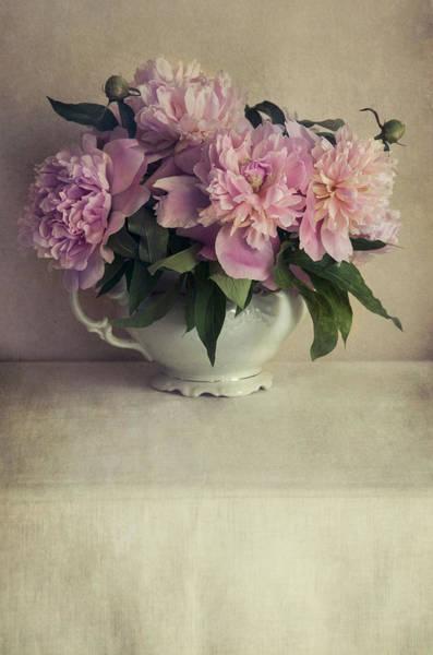 Wall Art - Photograph - Bouquet Of Fresh Pink Peonies by Jaroslaw Blaminsky