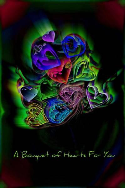 Digital Art - Bouquet Of Hearts by Donna Bentley