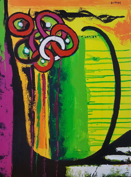 Wall Art - Painting - Bouquet Of Rings by Stuart Glazer