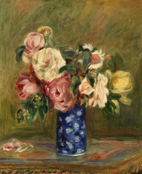 Wall Art - Painting - Bouquet Of Rose by Pierre-Auguste Renoir