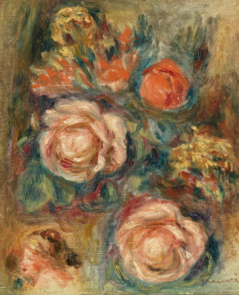 Wall Art - Painting - Bouquet Of Roses by Pierre-Auguste Renoir