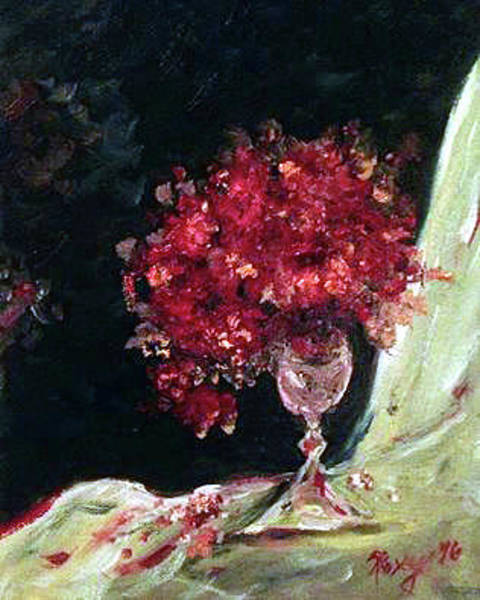 Wine Painting - Bouquet by Roxy Rich