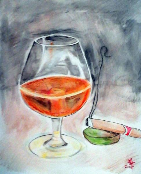 Painting - Bourbon And Smoke by Loretta Nash