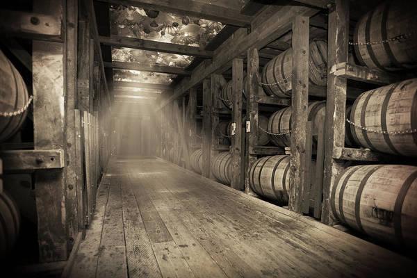 Skylights Wall Art - Photograph - Bourbon Barrels By Glass Glow by Karen Varnas