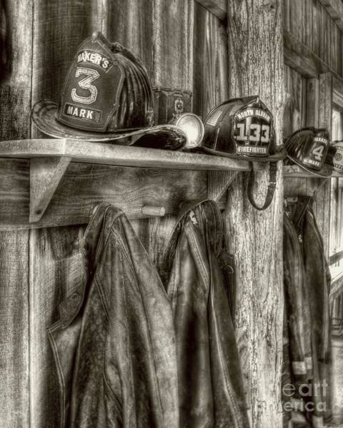 Photograph - Bourbon Distillery Firehouse Sepia Tone by Mel Steinhauer