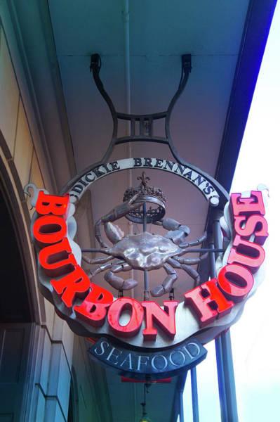 Wall Art - Photograph - Bourbon House Sign by Art Spectrum