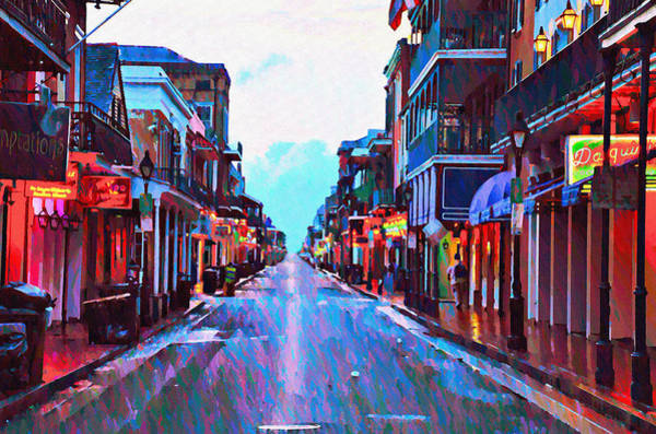 Bourbon Street Wall Art - Photograph - Bourbon Street At Dawn by Bill Cannon