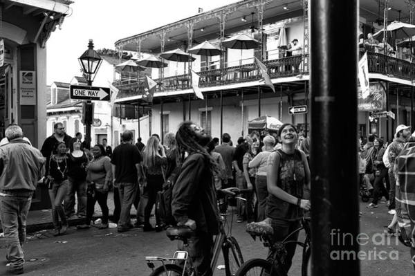Wall Art - Photograph - Bourbon Street Fun Mono by John Rizzuto
