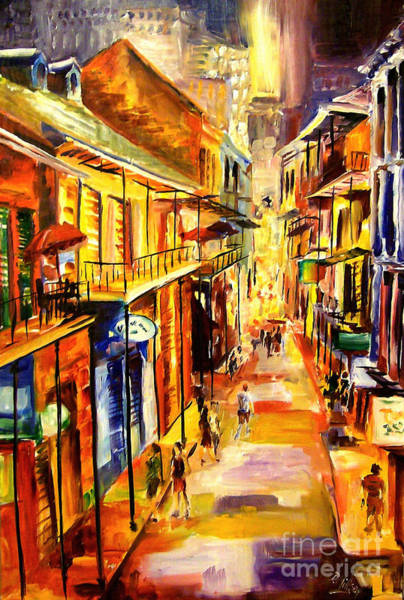 Night Life Painting - Bourbon Street Glitter by Diane Millsap