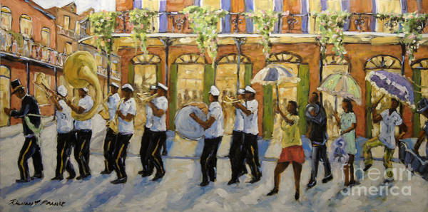 Wall Art - Painting - Bourbon Street Second Line New Orleans by Richard T Pranke