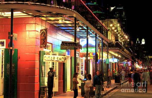 Photograph - Bourbon Street Situation New Orleans by John Rizzuto