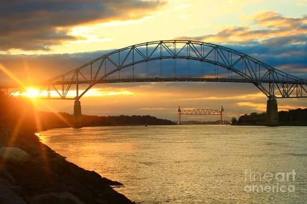Bourne Bridge Sunset Art Print