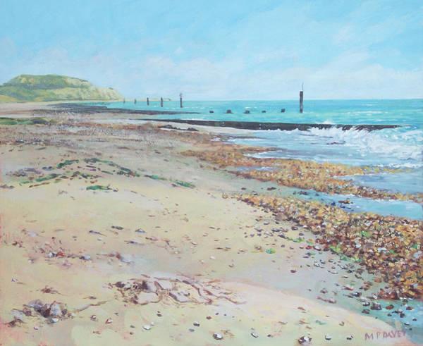 Painting - Bournemouth Beach Hengistbury Head by Martin Davey