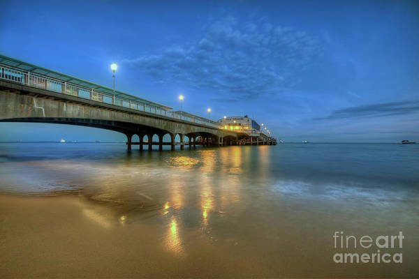 Photograph - Bournemouth Pier Blue Hour by Yhun Suarez