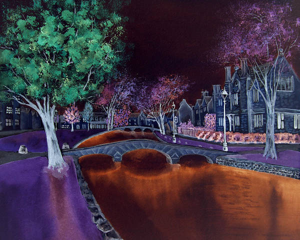 Digital Art - Bourton At Night II by Elizabeth Lock