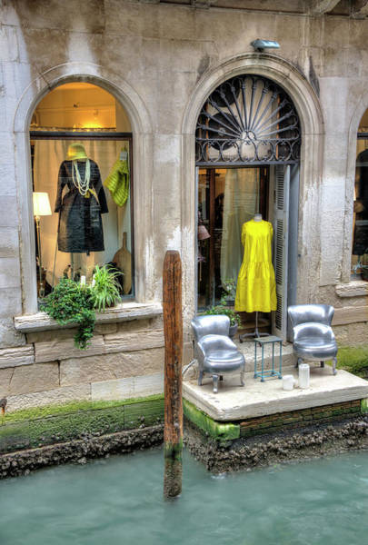 Photograph - Boutique On Canal In Venice by Gary Slawsky