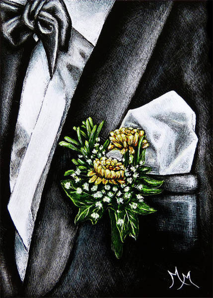 Drawing - Boutonniere by Monique Morin Matson