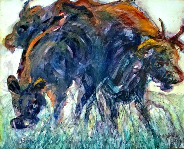 Wall Art - Painting - Bovine by Lee Baker DeVore