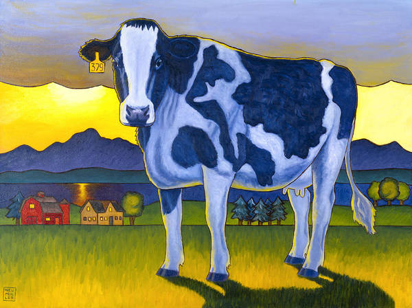 Wall Art - Painting - Bovine Whidbey by Stacey Neumiller