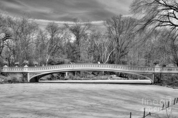 Wall Art - Photograph - Bow Bridge In Black And White 1 by Paul Ward