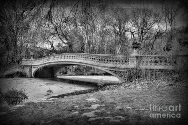 Wall Art - Photograph - Bow Bridge In Black And White 2 by Paul Ward
