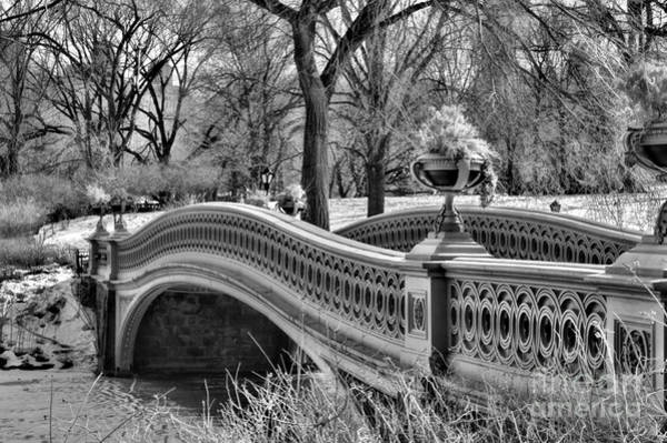 Wall Art - Photograph - Bow Bridge In Black And White  by Paul Ward