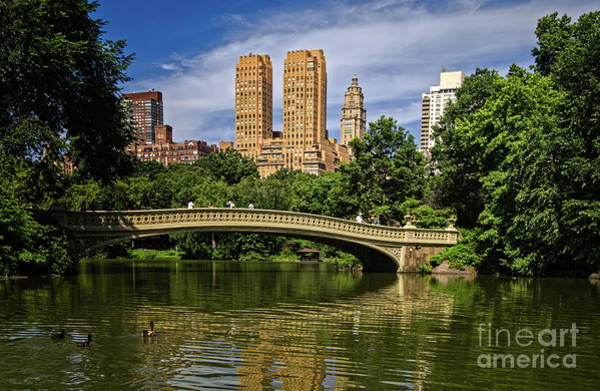 Photograph - Bow Bridge In Central Park by Franz Zarda