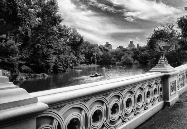 Photograph - Bow Bridge Monochrome by Jessica Jenney