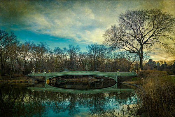 Photograph - Bow Bridge Reflection by Chris Lord