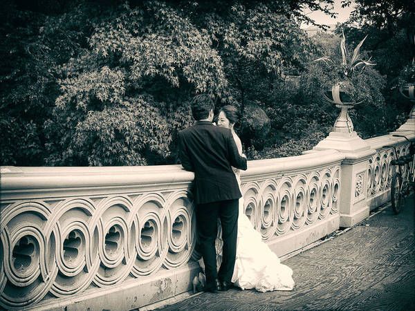 Photograph - Bow Bridge Romance by Jessica Jenney