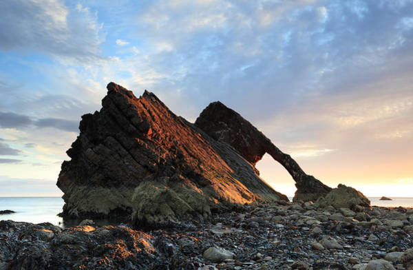 Photograph - Bow Fiddle Rock At Sunrise by Maria Gaellman
