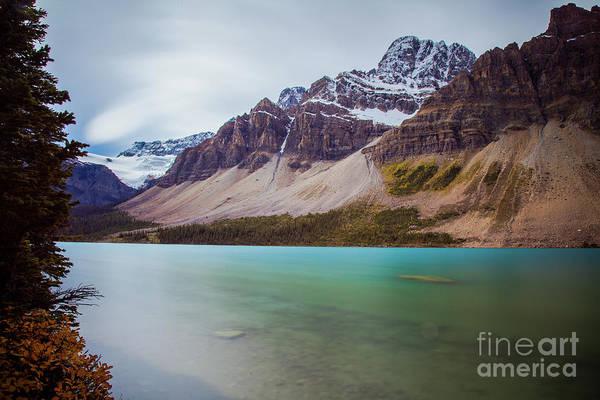 Photograph - Bow Lake Banff National Park Long Exposure by Wayne Moran