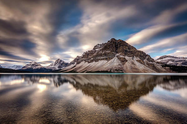 Photograph - Bow Lake Dramatic Reflection by Pierre Leclerc Photography