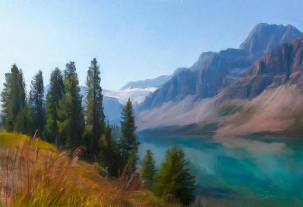 Digital Art - Bow Lake by Eduardo Tavares