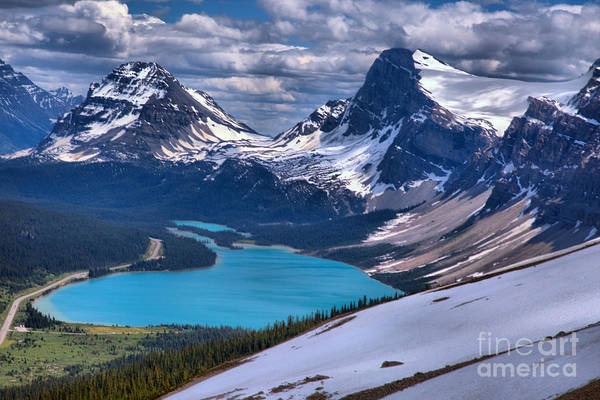 Photograph - Bow Lake Overlook by Adam Jewell