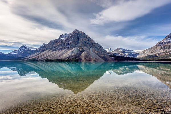 Photograph - Bow Lake Reflection From Num-ti-jah Lodge  by Pierre Leclerc Photography