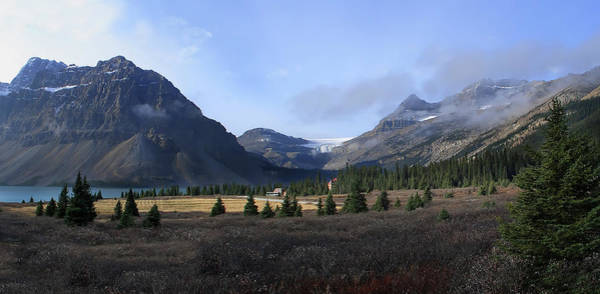 Wall Art - Photograph - Bow Lake Valley And Bow Glacier by Daniel Hagerman