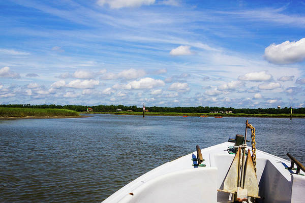 Photograph - Bow Of Boat, Broad Creek by Randy Bayne