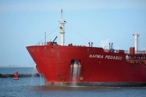 Photograph - Bow Of Tanker Hafnia Pegasus by Bradford Martin