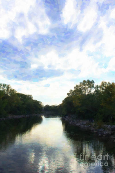 Digital Art - Bow River Painting by Donna L Munro