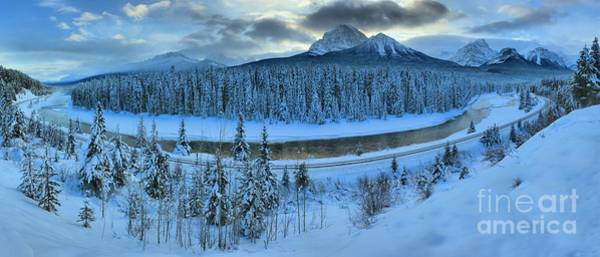 Canadian National Railway Photograph - Bow River Valley Panorama by Adam Jewell