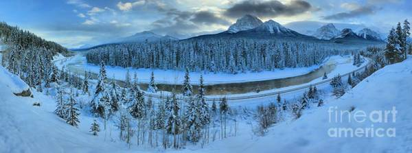 Canadian National Railway Photograph - Bow Valley River Giant Panorama by Adam Jewell