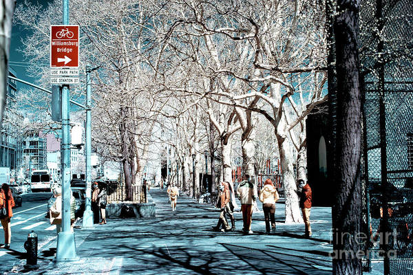 Photograph - Bowery Infrared Colors by John Rizzuto