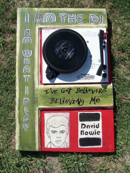 Mojo Painting - Bowie - I Am The Dj by Mojo Goat