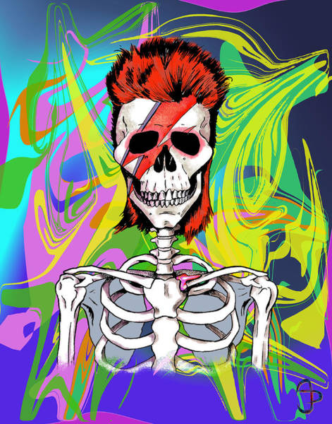 Glam Rock Digital Art - Bowie 1 by Andre Peraza