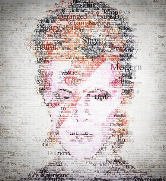 Glam Rock Digital Art - Bowie Typo by Zapista Zapista