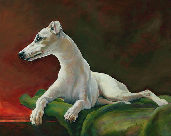 Sighthound Wall Art - Painting - Bowie Whippet by Leisa Temple