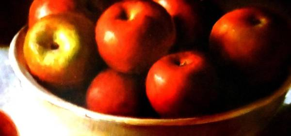 Frederick Morris Painting - Bowl Of Apples by Lord Frederick Lyle Morris - Disabled Veteran